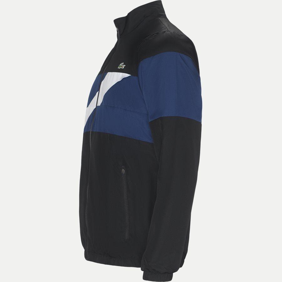 WH9538 - Colored Bands Taffeta Tennis Tracksuit - Sweatshirts - Regular - SORT - 5