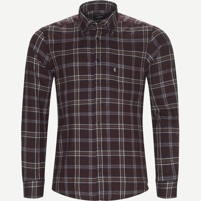 Button-down Skjorte - Skjorter - Regular - Bordeaux