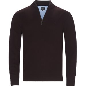 Half zip Knit Regular | Half zip Knit | Bordeaux
