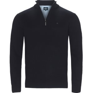 Half zip Knit Regular | Half zip Knit | Blå