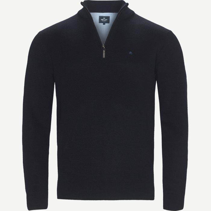 Half zip Knit - Strik - Regular - Blå