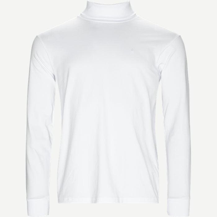 Langærmet Rullekrave - T-shirts - Regular - Hvid