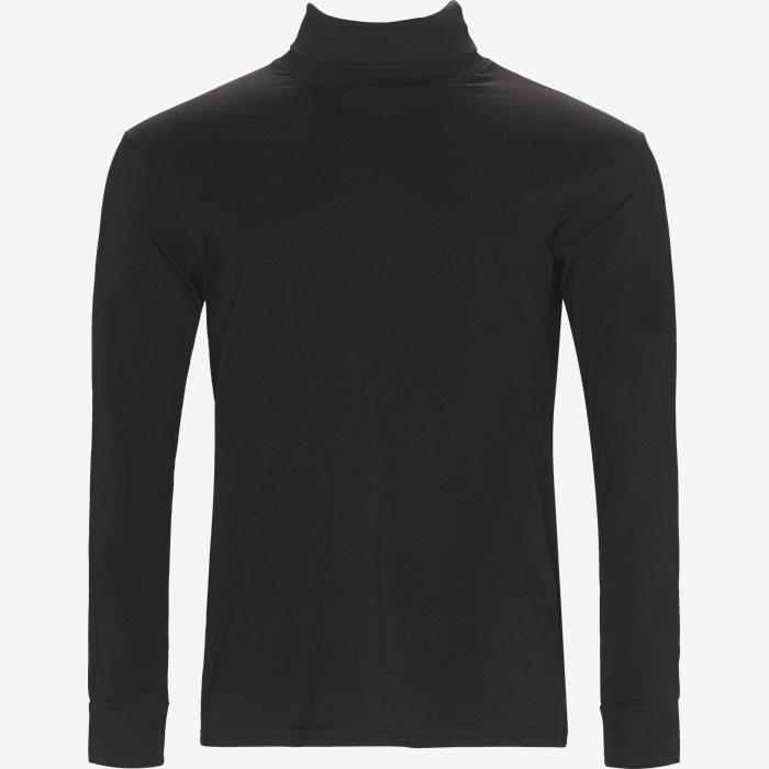 Langærmet Rullekrave - T-shirts - Regular - Sort