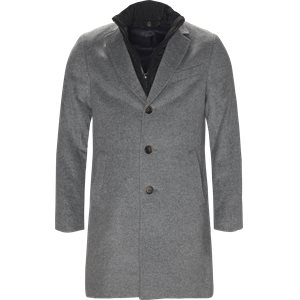 Cashmere Sultan Tech Coat Modern fit | Cashmere Sultan Tech Coat | Grå