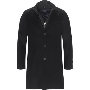Cashmere Sultan Tech Coat Modern fit | Cashmere Sultan Tech Coat | Sort