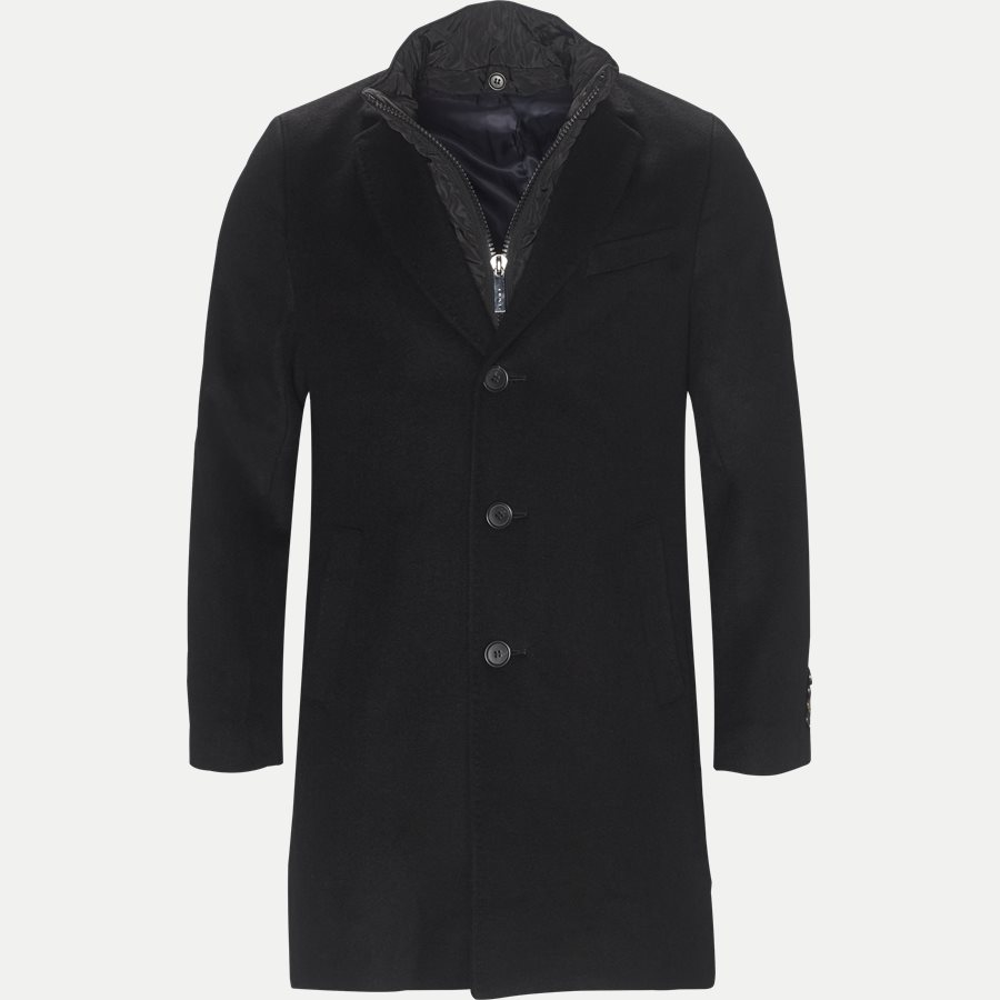CASHMERE COAT SULTAN TECH - Cashmere Sultan Tech Coat - Jakker - Modern fit - SORT - 1