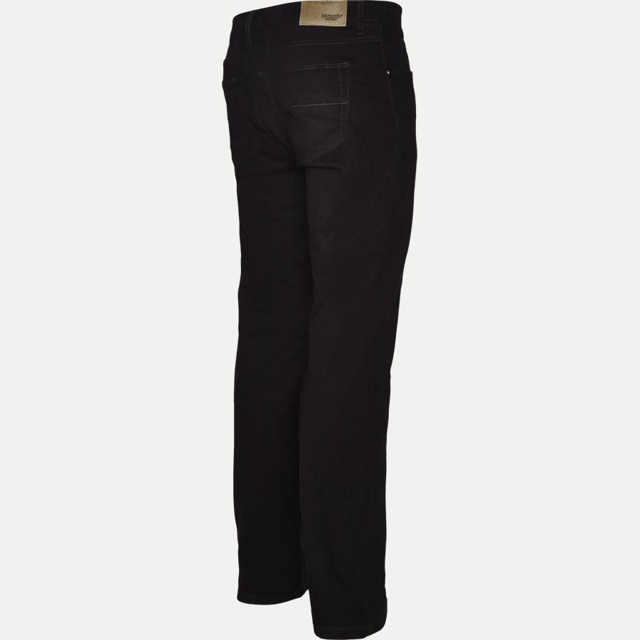 SUEDE TOUCH BURTON N, - Suede Touch Burton Jeans - Jeans - Regular - SORT - 3