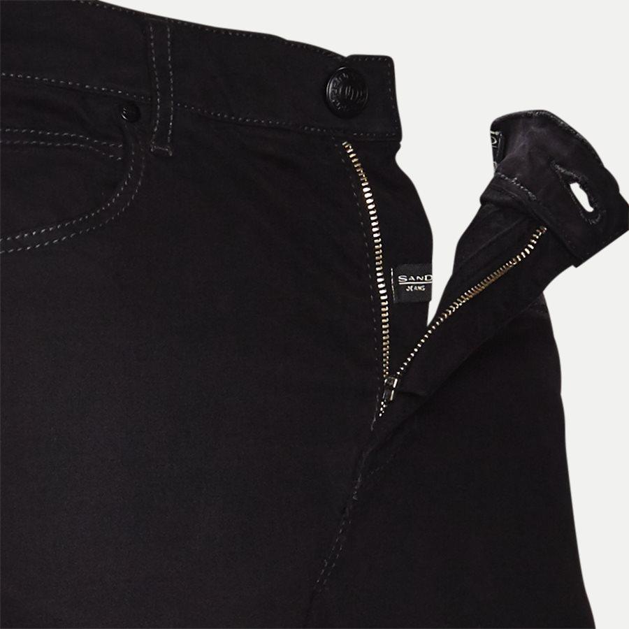 SUEDE TOUCH BURTON N, - Suede Touch Burton Jeans - Jeans - Regular - SORT - 4