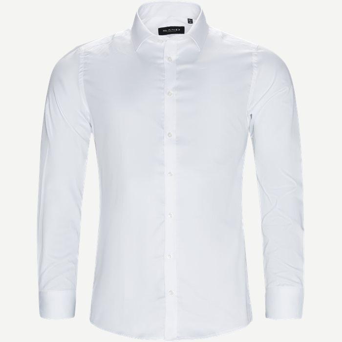 8589 Iver Trim/State Trim Skjorte - Skjorter - Hvid