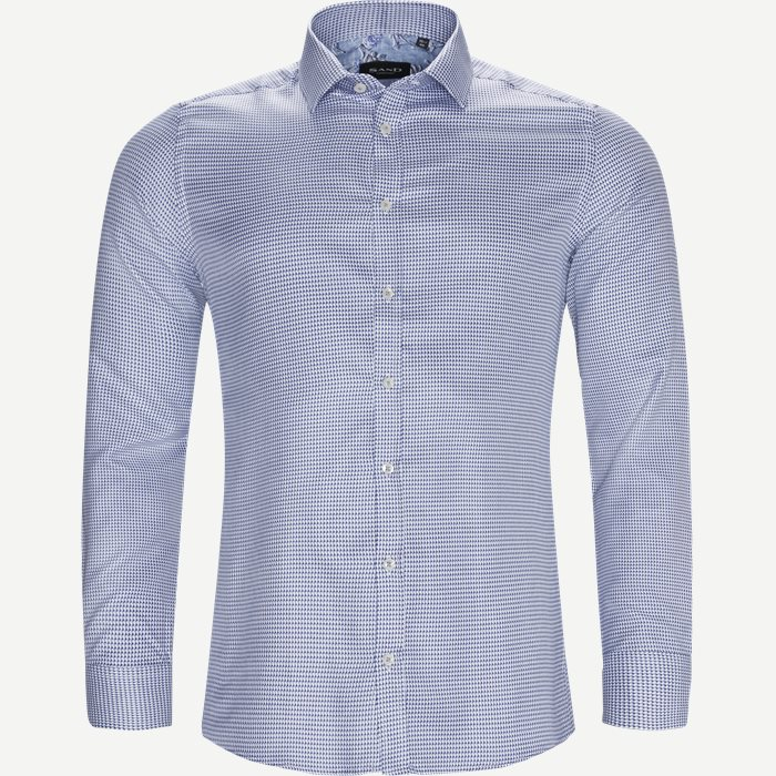 8048 Iver Trim/State Trim Skjorte - Skjorter - Blå