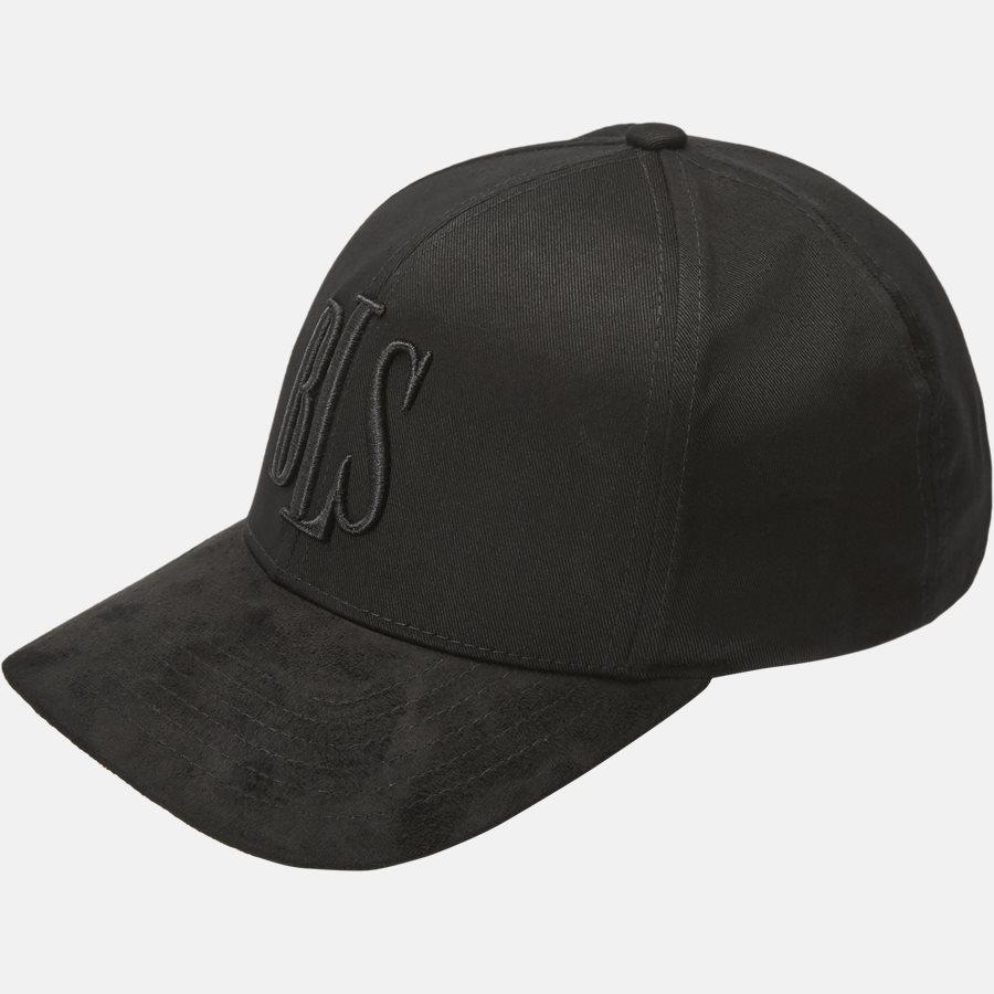 CLASSIC BASEBALLE CAP SUEDE - Huer - BLACK - 1