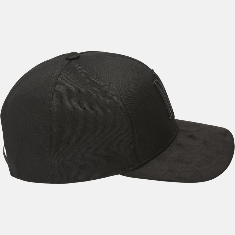 CLASSIC BASEBALLE CAP SUEDE - Huer - BLACK - 4