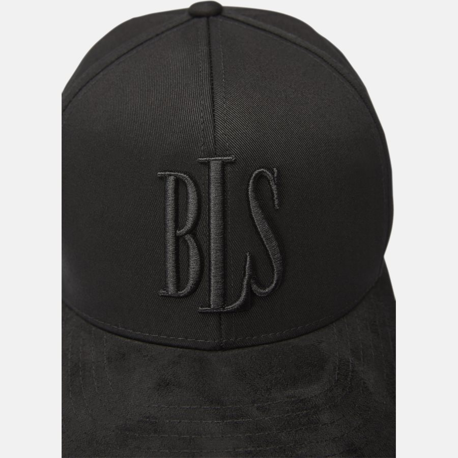CLASSIC BASEBALLE CAP SUEDE - Huer - BLACK - 5