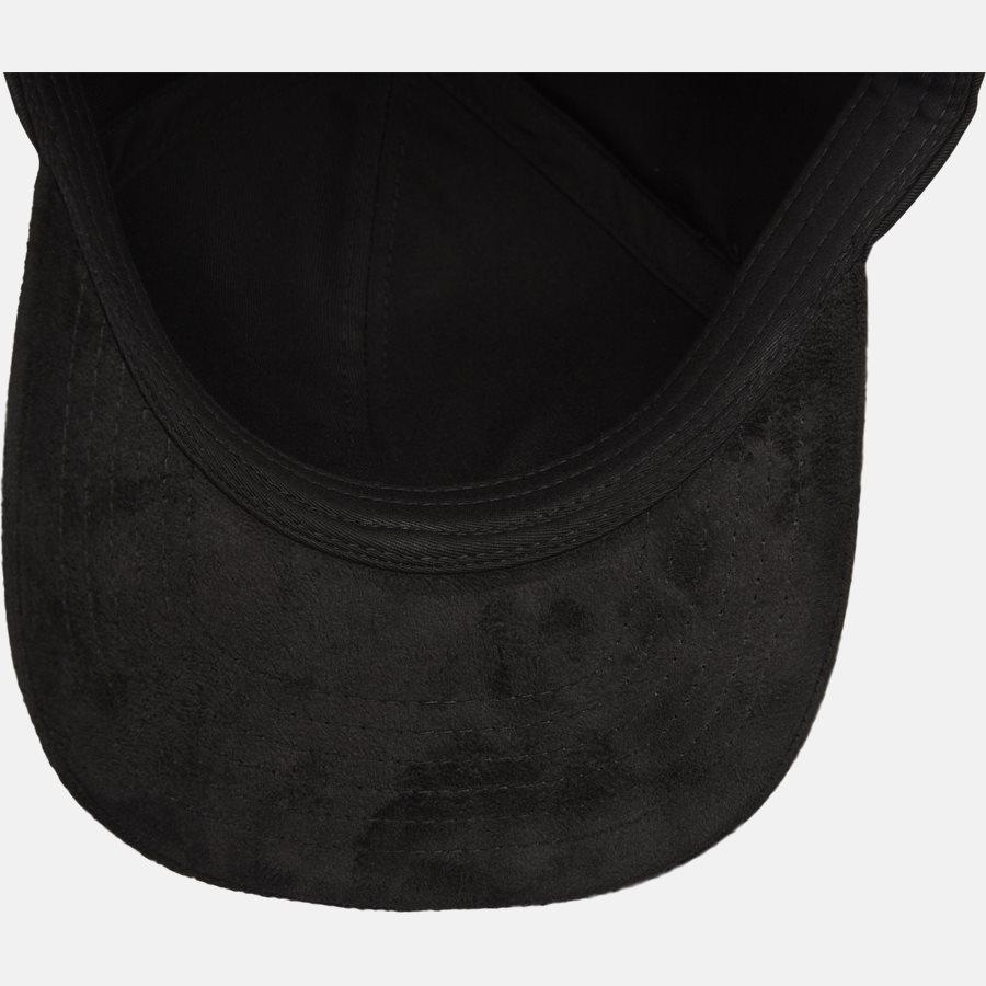 CLASSIC BASEBALLE CAP SUEDE - Huer - BLACK - 6