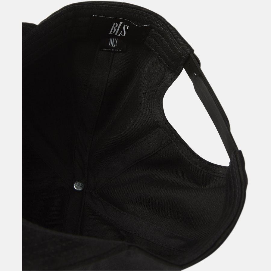 CLASSIC BASEBALLE CAP SUEDE - Huer - BLACK - 7