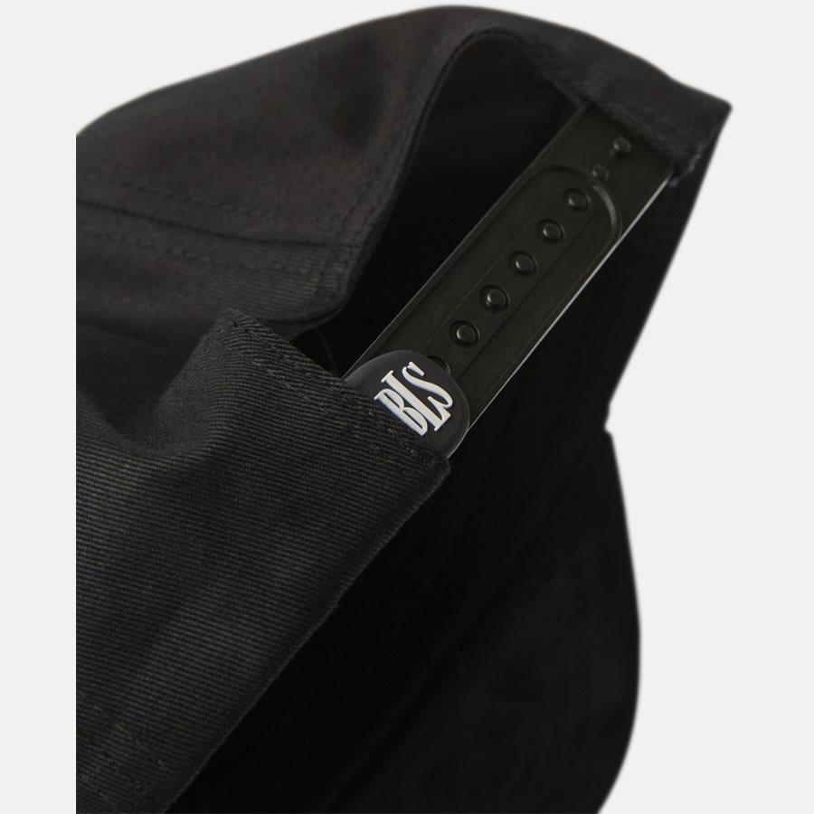 CLASSIC BASEBALLE CAP SUEDE - Huer - BLACK - 8