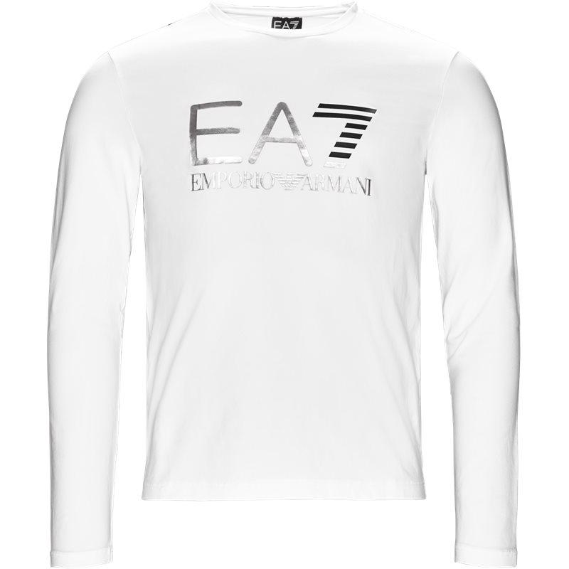 Ea7 pj20z-6zpt22 langærmet t-shirt hvid fra ea7 på quint.dk