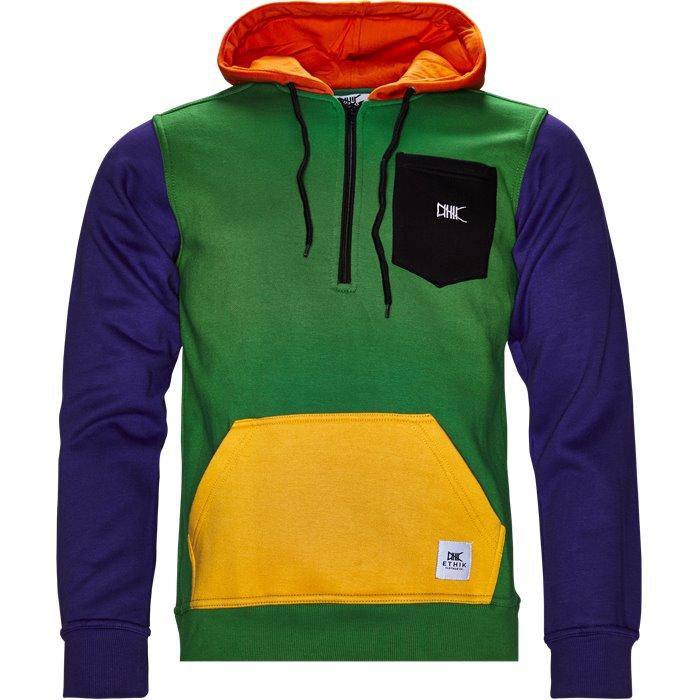 1/2 zip Hoodie - Sweatshirts - Regular - Grøn