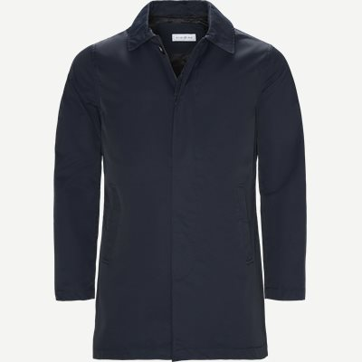 Robinson Cotton Coat Regular | Robinson Cotton Coat | Blå