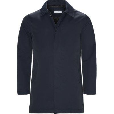 Robinson Cotton Coat Regular | Robinson Cotton Coat | Blå