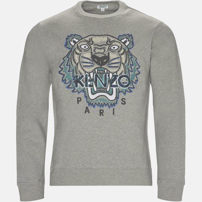 sweat - Sweatshirts - Slim - Grå
