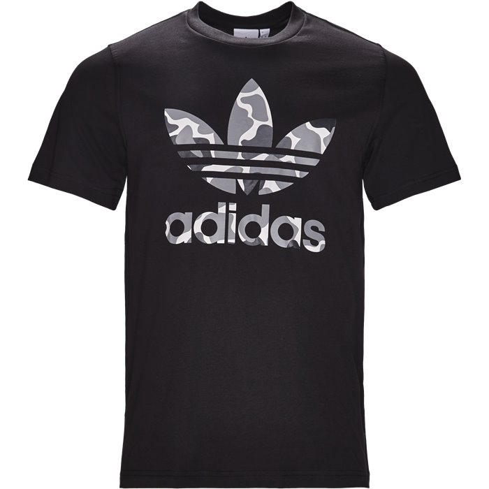 Camo Trefoil - T-shirts - Regular - Sort