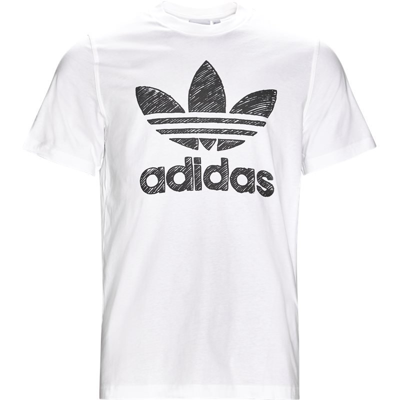 Image of   Adidas Originals Hand Drawn Hvid