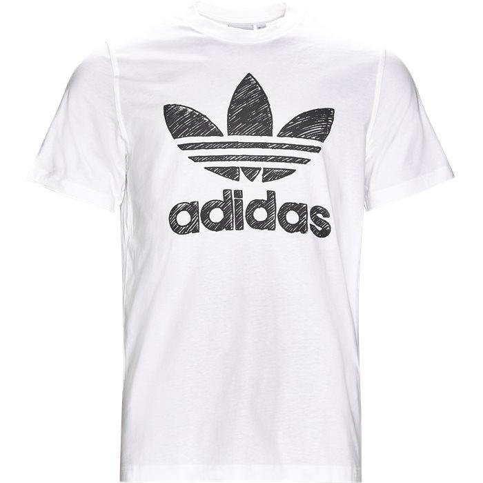 Hand Drawn - T-shirts - Regular - Hvid