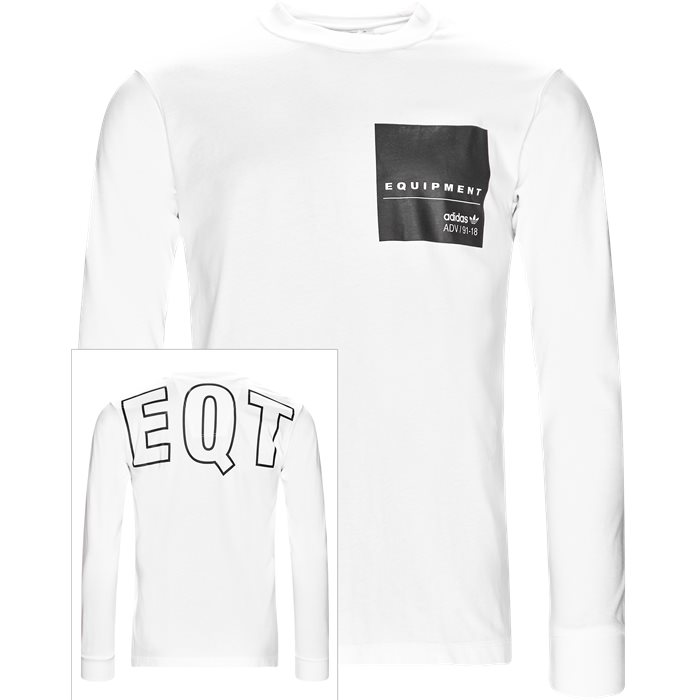 EQT LS - T-shirts - Regular - Hvid