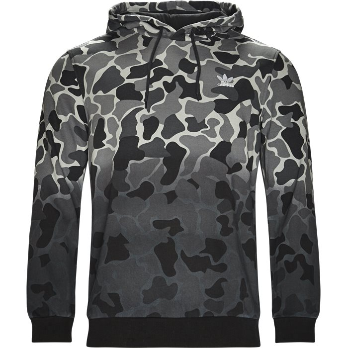 Camo Hood - Sweatshirts - Regular - Grå
