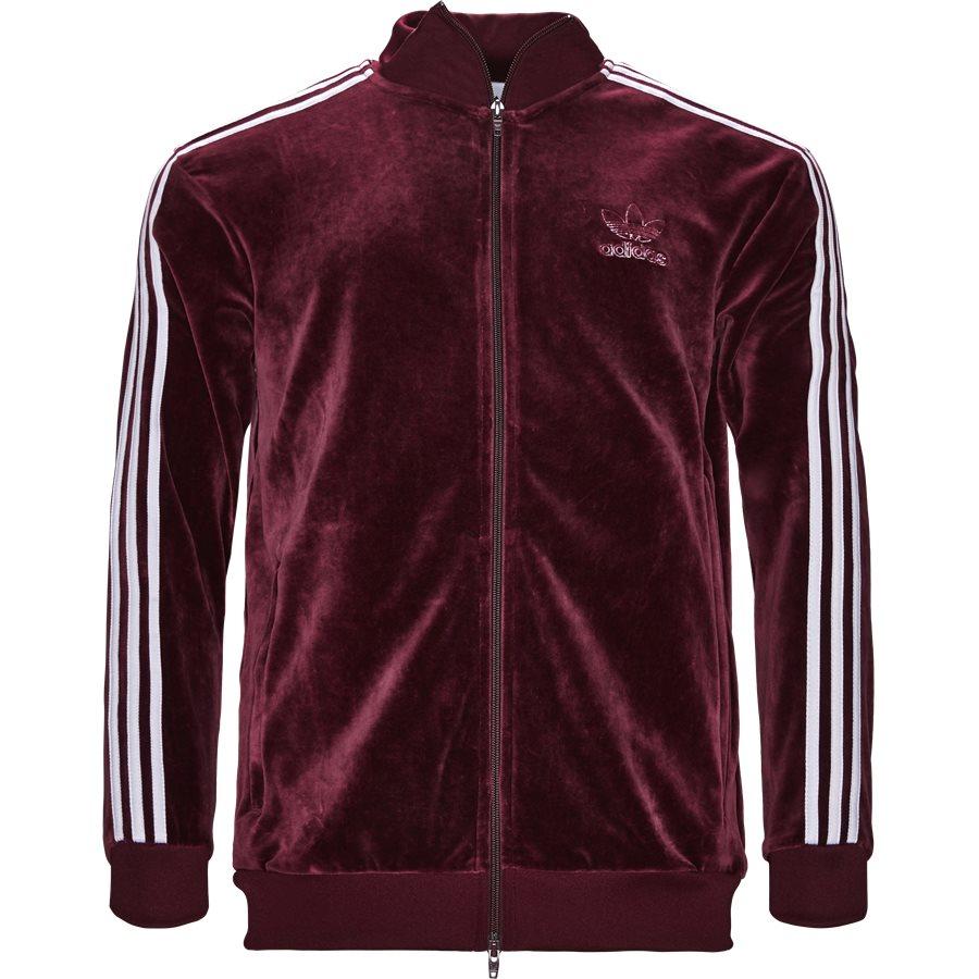 VELOUR DH5789 - Velour Track Top - Sweatshirts - Regular - BORDEAUX - 1
