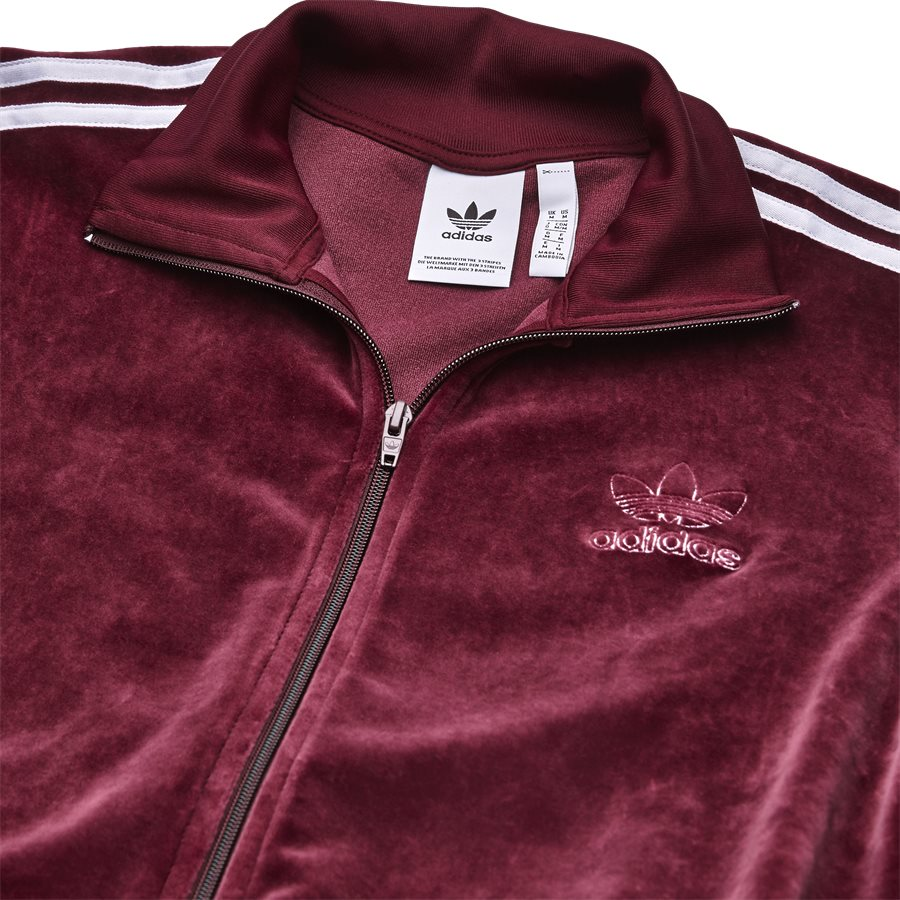 VELOUR DH5789 - Velour Track Top - Sweatshirts - Regular - BORDEAUX - 3