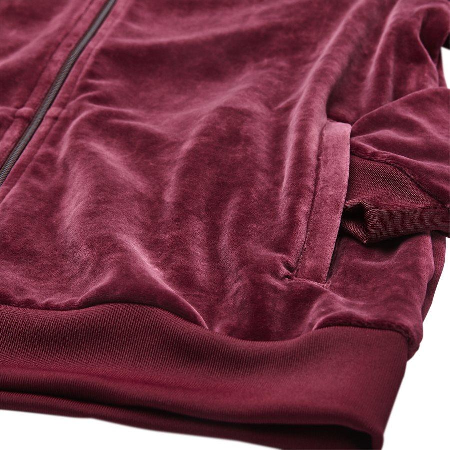 VELOUR DH5789 - Velour Track Top - Sweatshirts - Regular - BORDEAUX - 4