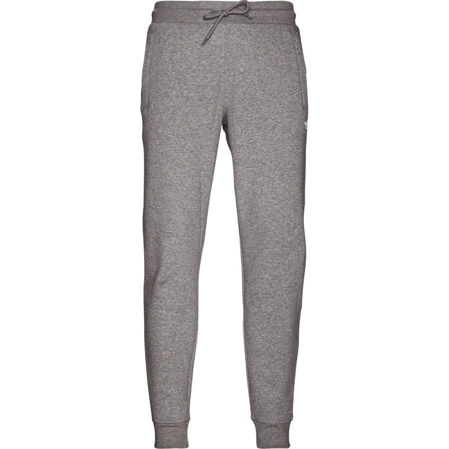SLIM FLC DN6010 - Slim Flc Sweatpant - Bukser - Regular - GRÅ - 1