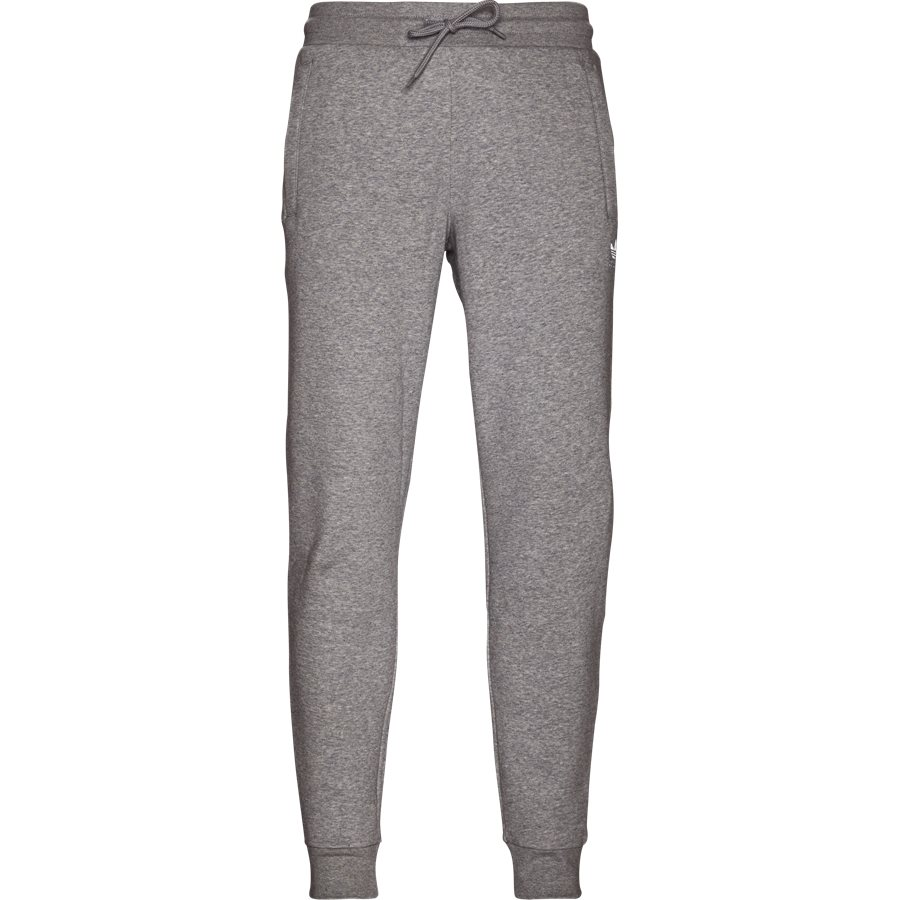 SLIM FLC DN6010 - Slim Flc Sweatpant - Bukser - Regular - GRÅ - 1