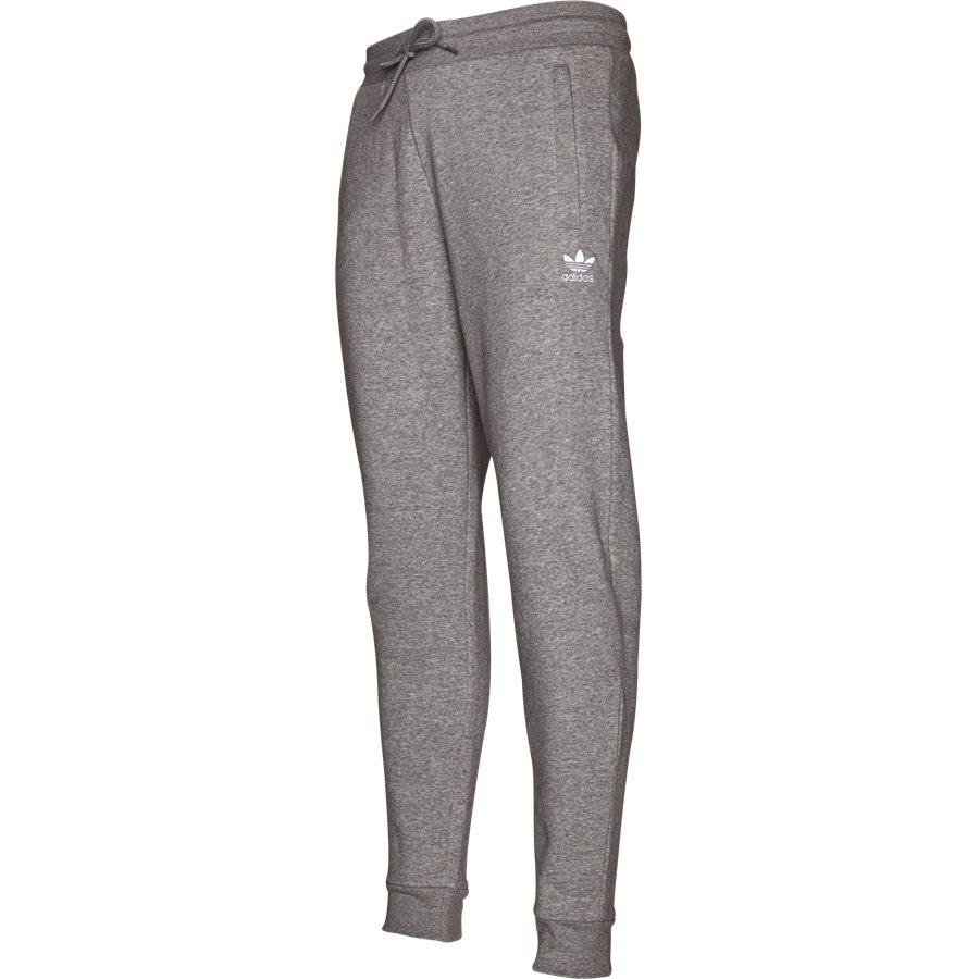 SLIM FLC DN6010 - Slim Flc Sweatpant - Bukser - Regular - GRÅ - 4