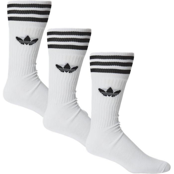 Solid Crew Sock - Strømper - Regular - Hvid