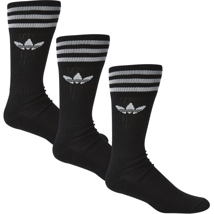 Solid Crew Sock - Strømper - Regular - Sort