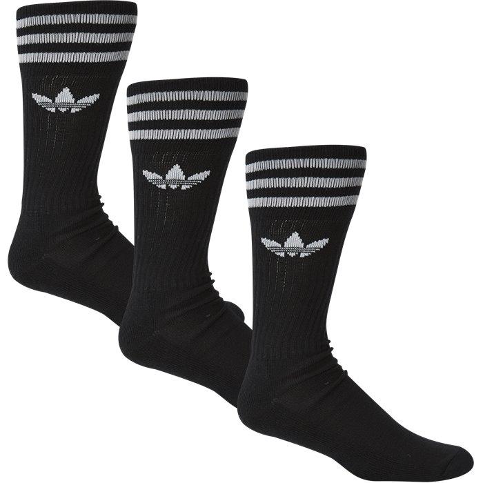 Solid Crew Sock - Strømper - Regular - Sort