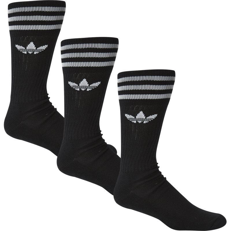 adidas originals Adidas originals solid crew sock sort på quint.dk