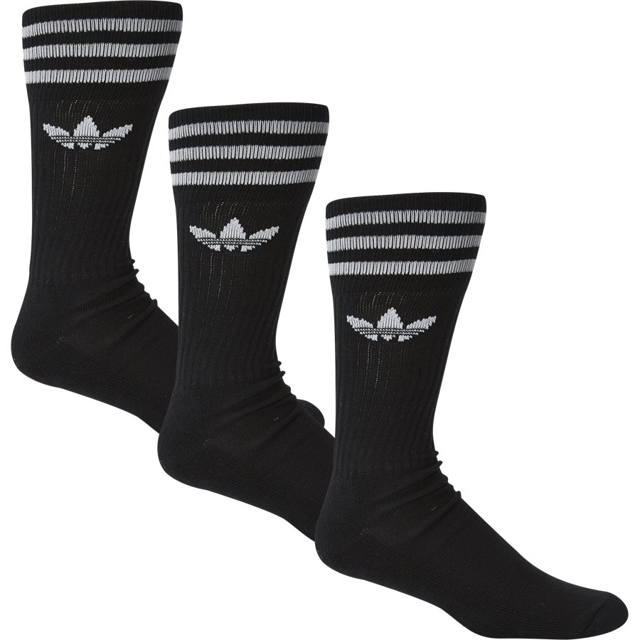 SOLID CREW S21489 - Solid Crew Sock - Strømper - Regular - SORT - 1
