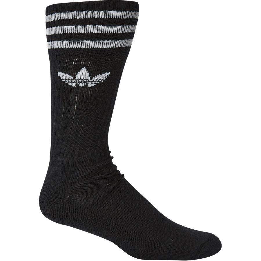 SOLID CREW S21489 - Solid Crew Sock - Strømper - Regular - SORT - 2