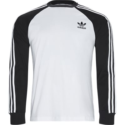3 Stripes LS Tee Regular | 3 Stripes LS Tee | Hvid