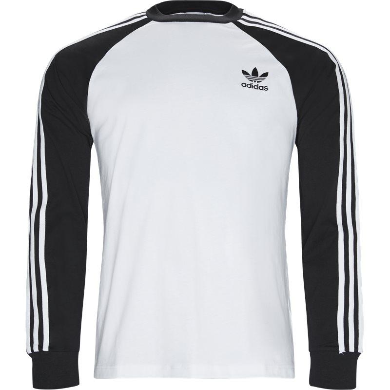 Adidas originals 3 stripes ls tee hvid fra adidas originals på quint.dk