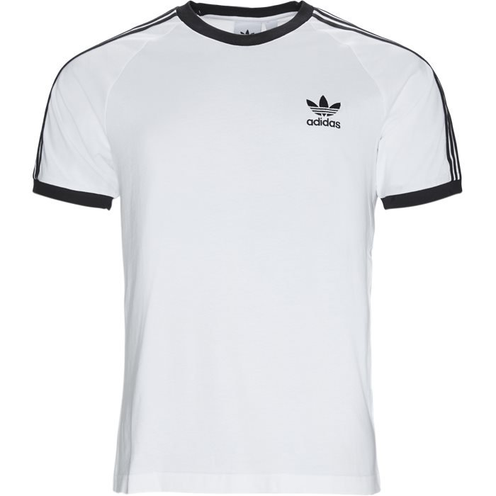 3 Stripes Tee - T-shirts - Regular - Hvid