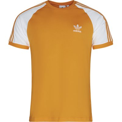 3 Stripes SS Tee Regular | 3 Stripes SS Tee | Orange