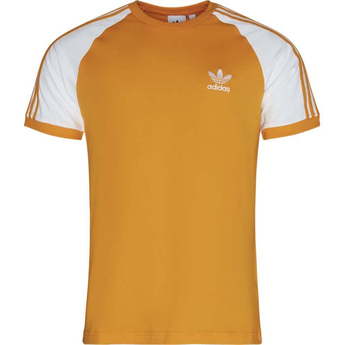 3 Stripes SS Tee - T-shirts - Regular - Orange
