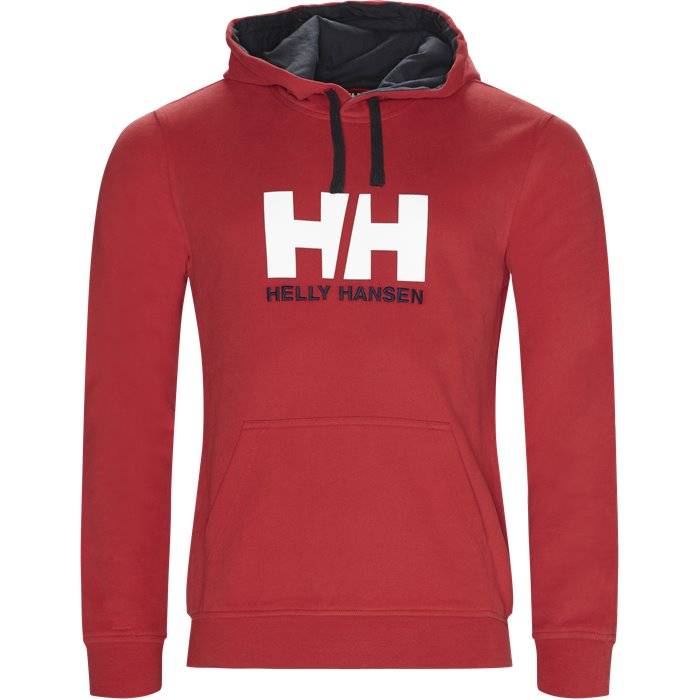 HH Logo Hoodie - Sweatshirts - Regular - Rød