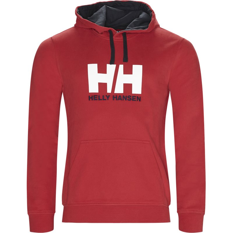 helly hansen helly hansen hh logo hoodie rød