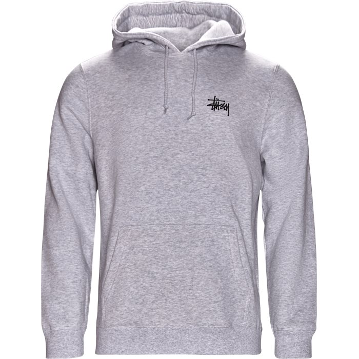 Basic Stüssy Hood - Sweatshirts - Regular - Grå
